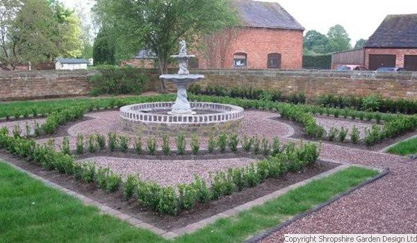 Shropshire garden design ltd for Georgian landscape design