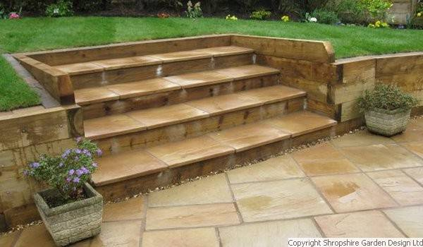 Shropshire garden design ltd for Garden designs sleepers