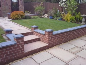 Brick Block And Sleeper Retaining Walls