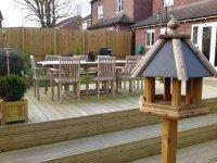 Terraced decking