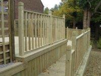 Telford decking walkway