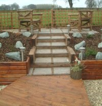 Path of decking