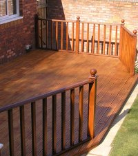 Telford timber decking with timber balustrade