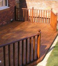 Telford timber decking with timber balustrade