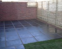 Natural slate paving in Shropshire