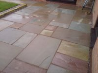 Natural sandstone paving, Shropshire