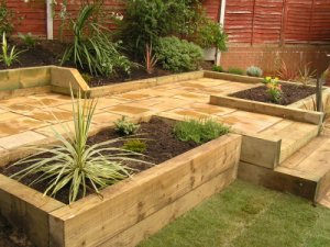 click here to see examples of our latest work - Garden Design Using Sleepers