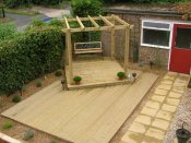 large timber pergola shrewsbury