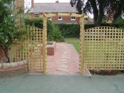 shropshire timber garden arch