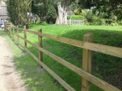 shropshire post and rail fencing