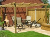 shropshire timber pergola