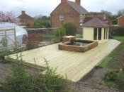 telford timber garden decking